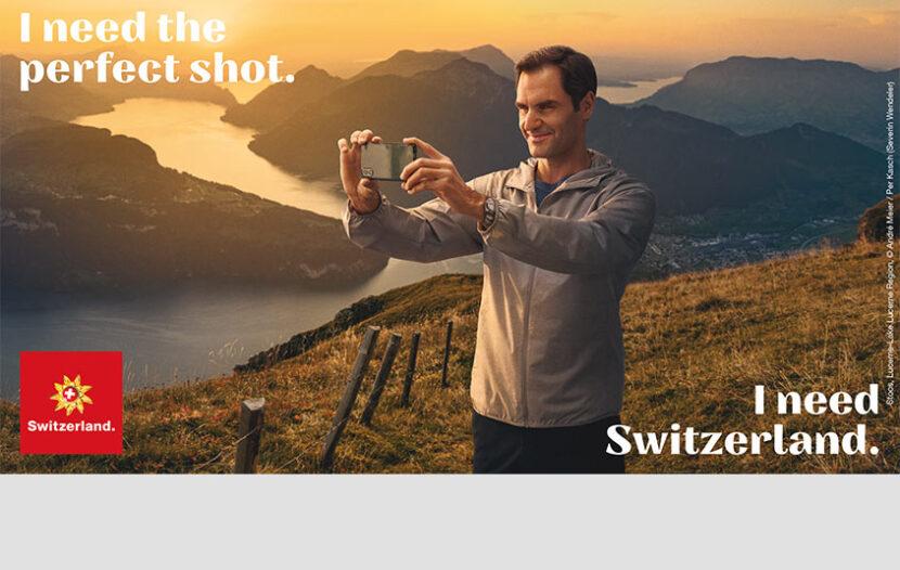 Roger Federer is Switzerland Tourism's new brand ambassador