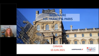 Air France & Paris webinar from Atout France has all the info agents need now to sell France