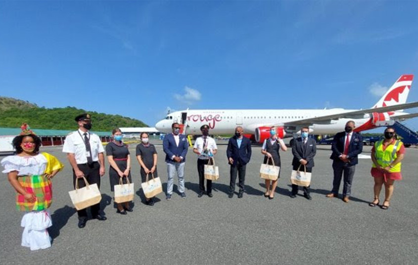 Saint Lucia welcomes back Air Canada Rouge, with more airlines to come